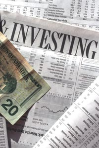 Money and Investing Newspaper