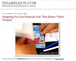 Budgeting: That Illusive Other Category