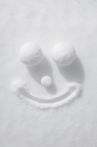 Snow Smiley Face